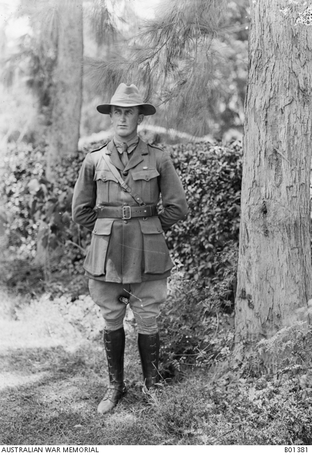 Egypt, 1918. Lieutenant G W R Jones, trophies officer of the Australian Imperial Force War Records Section