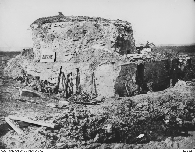 A pillbox known as Anzac Strong Post