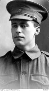 Studio portrait of 22288 Sapper William James Rodan, 3rd Field Company Engineers of Hawthorn, Vic.  An engineer prior to his enlistment on 23 June 1917 he embarked (after attending Engineering ..