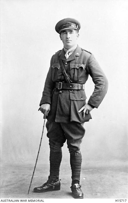Studio portrait of Lieutenant Louis Bayer, 1st Australian Machine Gun Company, AIF.