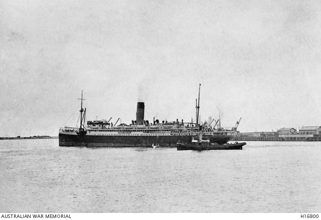 Herbert embarked on the HMAT A35 Berrima at 12pm on the 22nd of December 1914