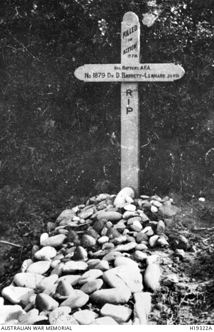 A Wooden Cross Marks The Grave Of 1879 Driver Dvr Douglas Barrett