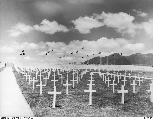1952 08 GRAVES OF AUSTRALIAN SERVICEMEN WHO WERE KILLED IN ACTION KOREA