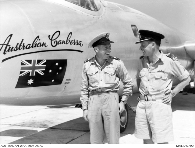 Wing Commander (Wing Cdr) Gerald Cumming (left) of Malvern