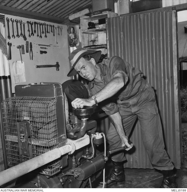 A soldier with an unusual job in Korea is 23157 Private (Pte) James