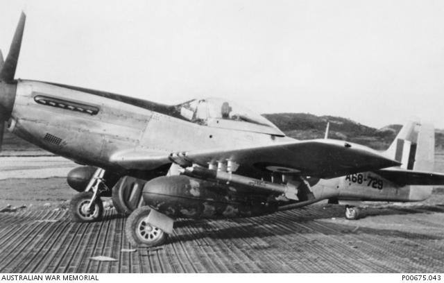 Pohang Korea 1950 No 77 Squadron Raaf P51 D Mustang