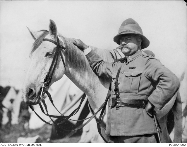 Major Robert Lenehan, commander of the Bushveldt Carbineers at the time of the Morant-Handcock executions, pictured about 1904. Lenehan was himself charged over instances of the shooting of Boer prisoners, but was only found guilty of failing to report such occurrences; he was reprimanded, relieved of his command and returned to Australia.
