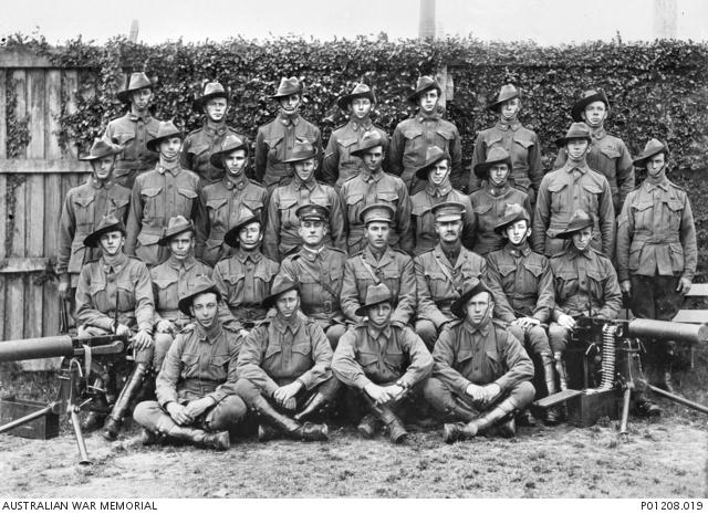 Members of the 9th Light Horse Brigade, 1915   B 58168