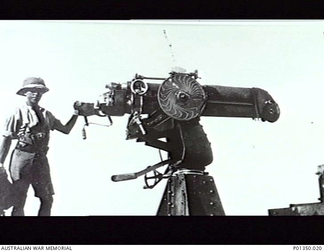 Probably EGYPT, C  1915  A BRITISH 13-POUNDER FIELD GUN
