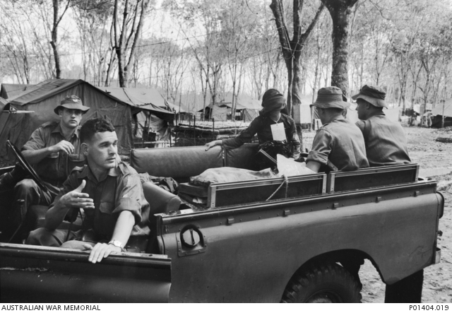 Men of Detachment 1 Division Intelligence Unit at the 1st