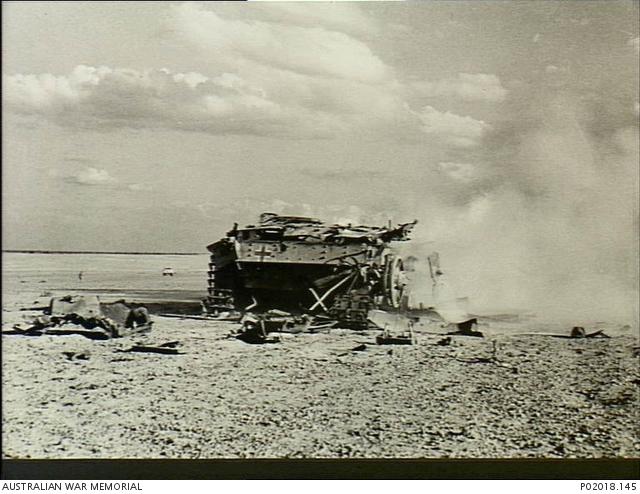 El Aqquqir, Egypt  1942-10  A German panzer tank destroyed