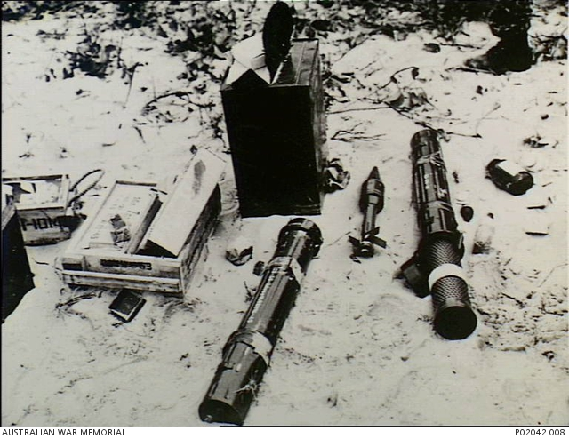 South Vietnam  Viet Cong rifle grenades, mortar rounds and