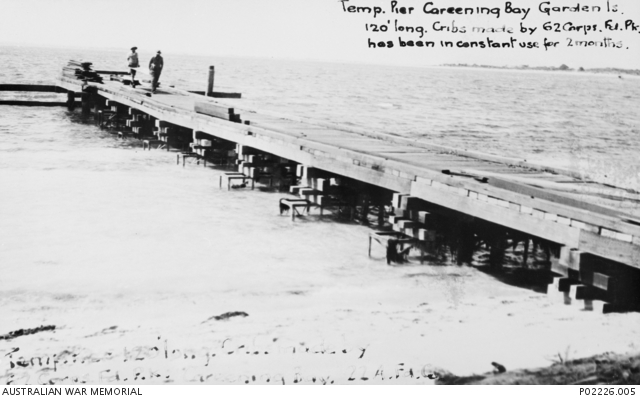 Careening Bay Garden Island Wa C 1943 Temporary Pier 120 Feet