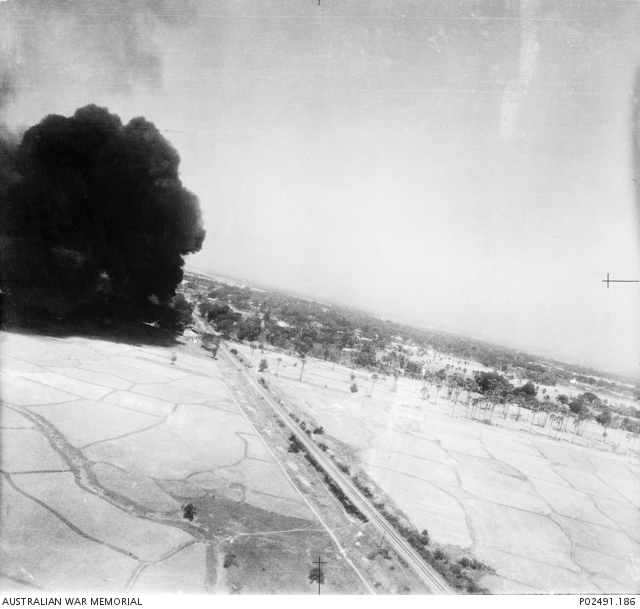 Thegon, Burma  14 February 1944  During a strafing attack by Warrant