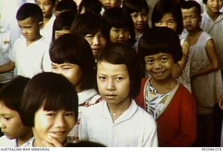 Orphaned Vietnamese children at Baria Orphanage