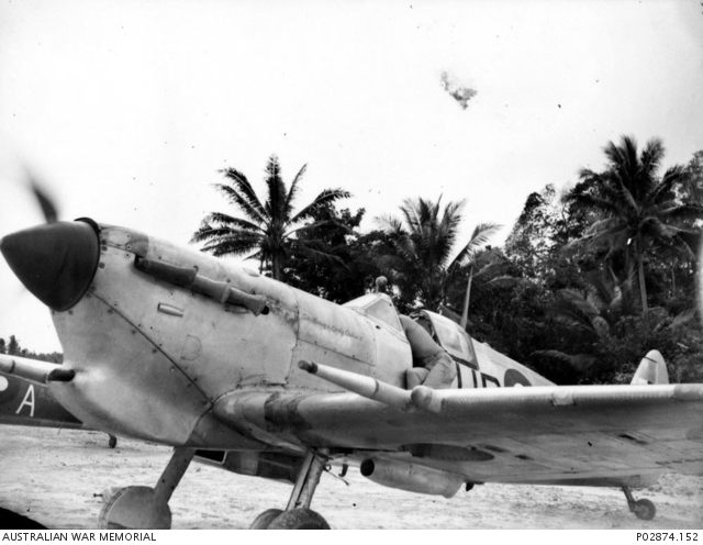 Los Negros Admiralty Islands New Guinea August 1944 No 79 Squadron RAAF Spitfire Mk Vc