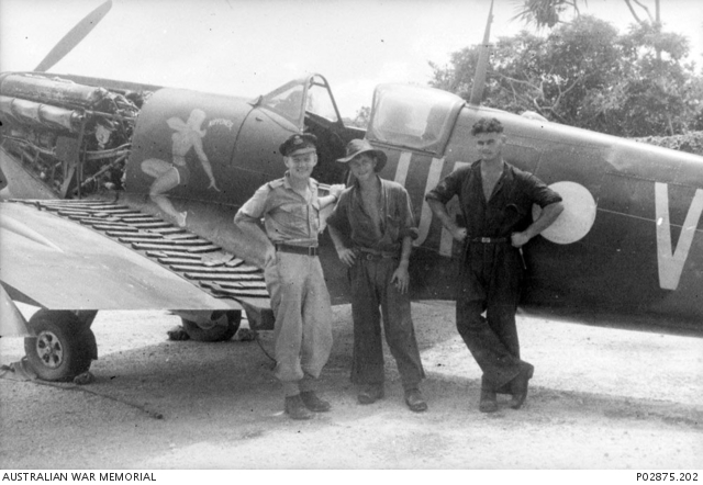 Kiriwina Trobriand Islands Papua September 1943 A No 79 Squadron RAAF Pilot With His Support