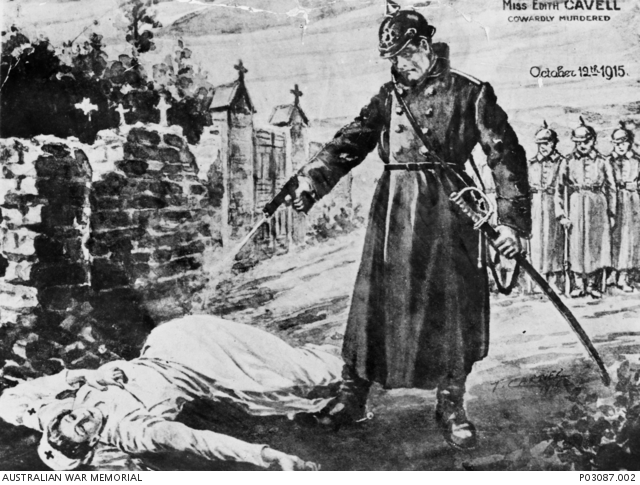 1916  A propaganda cartoon by T  Carnel depicting the