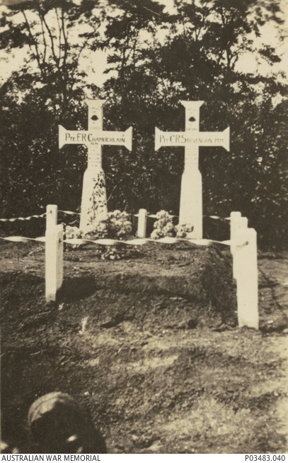 The original graves of two members of the 12th Field