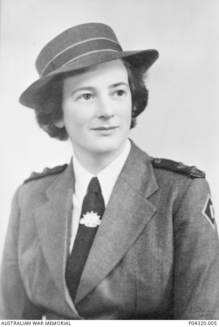 Studio portrait of VFX65911 Lieutenant (Lt) Sister Kathleen Carew Gardner, 115 Australian General Hospital. P04320.005.