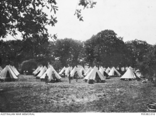 Tents of the Australian Army Medical Corps at the camp in Southampton