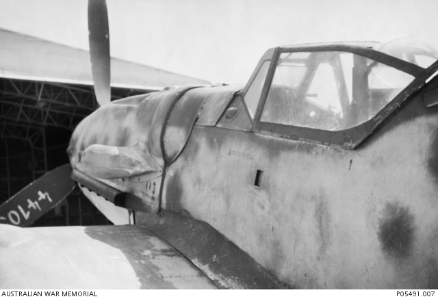Close up detail of the canopy and forward section of a German Messerschmitt Bf 109G-6 (Werknummer . & Close up detail of the canopy and forward section of a German ...