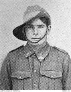 Studio portrait of 2815 (later 2815A) Private Roy Emanuel Fowler, 3rd Pioneer Battalion (later 1st Battalion Australian Machine Gun Corps) of Parramatta, NSW.  An farmer prior to enlisting, he ..