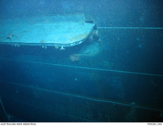 Dive 6 NSK Kormoran Wreck Port underwater concealed torpedo
