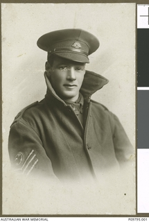Studio portrait of 15086 Sergeant George Thomas Barnett, Australian Army Medical Corps
