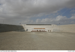 The firing range facility at Al Minhad Air Base in the United Arab Emirates. All Australian Defence Force personnel, prior to their deployment in Iraq and Afghanistan, are required to conduct ..