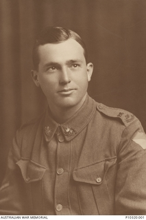 Studio portrait of 118 Corporal Arthur Edward Harvey, 26th Battalion. A draper from Bundaberg, Qld prior to enlistment, Harvey embarked as a Private with A Company from Brisbane on HMAT Ascanius on ..