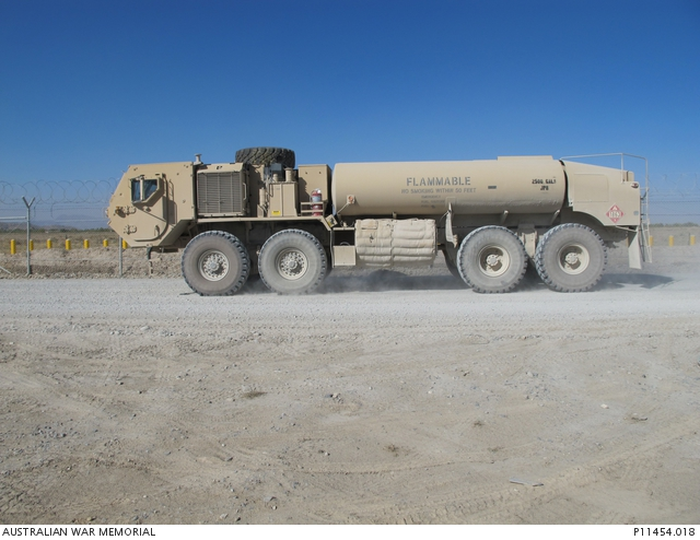 A M978A4 HEMTT armoured fuel tanker. One of a series of photographic  studies taken by the ... | Australian War Memorial