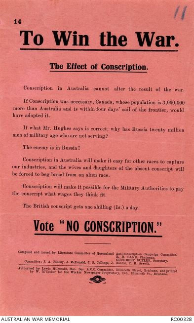 canada ww1 conscription
