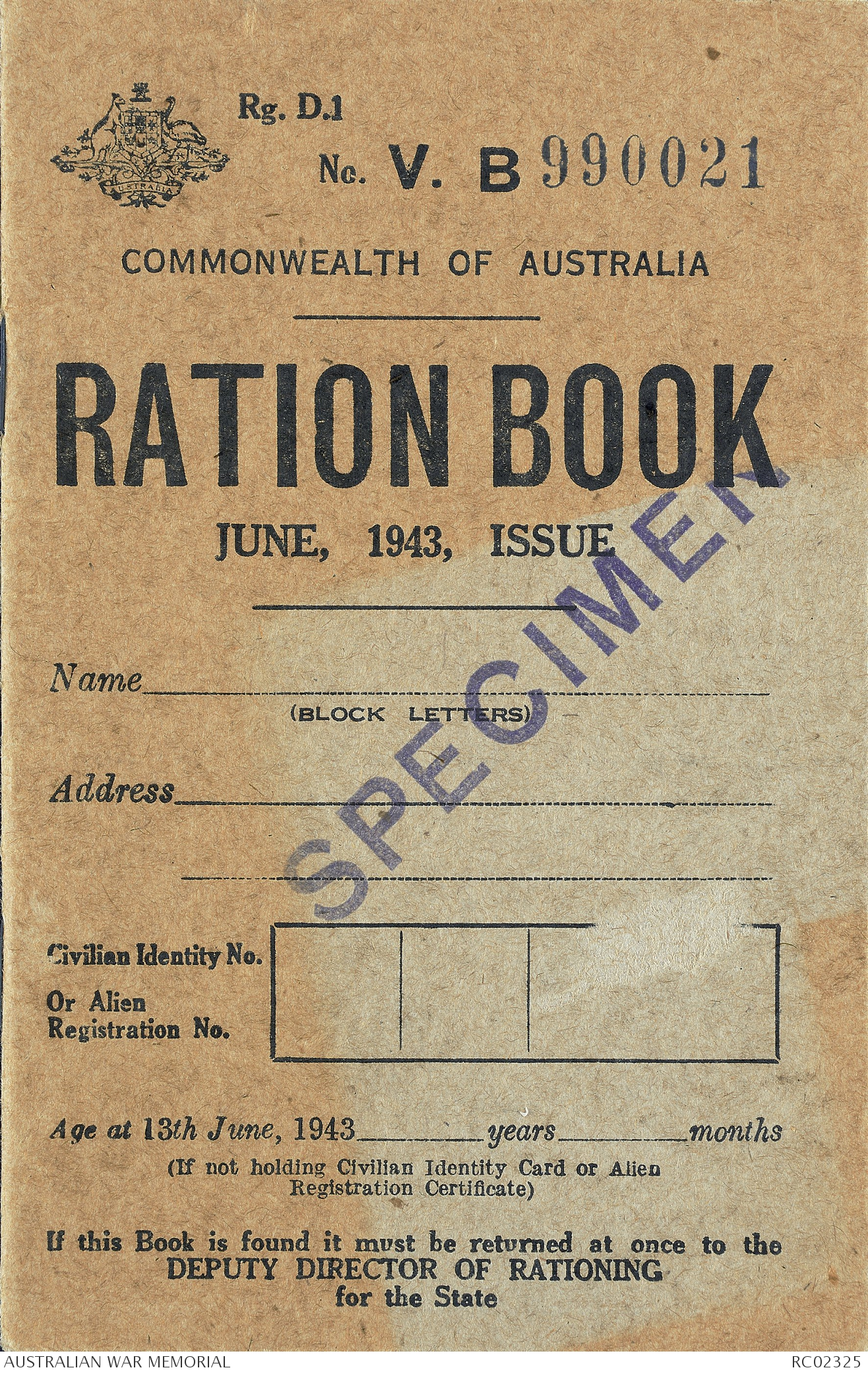 Ration coupons download