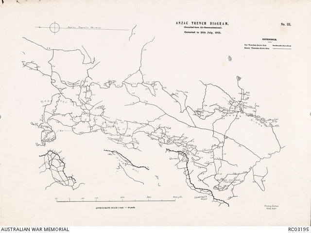 Mapping gallipoli the australian war memorial the nek objectives map anzac trench diagram no iii gumiabroncs Image collections