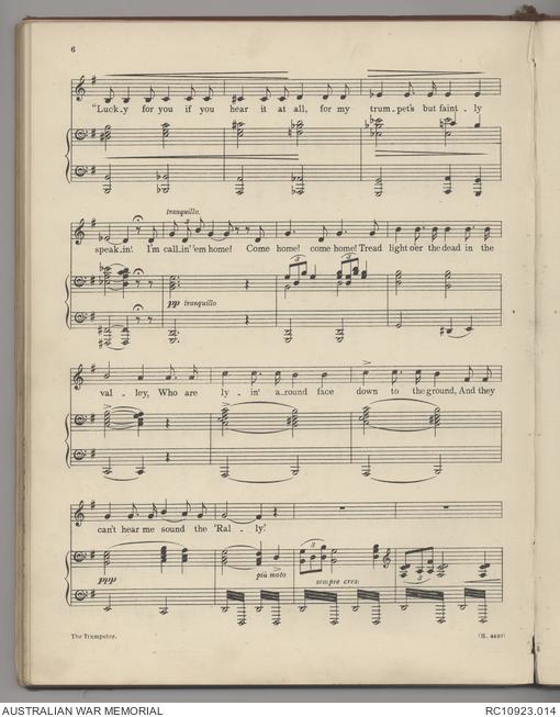 Sheet music] The Trumpeter | The Australian War Memorial