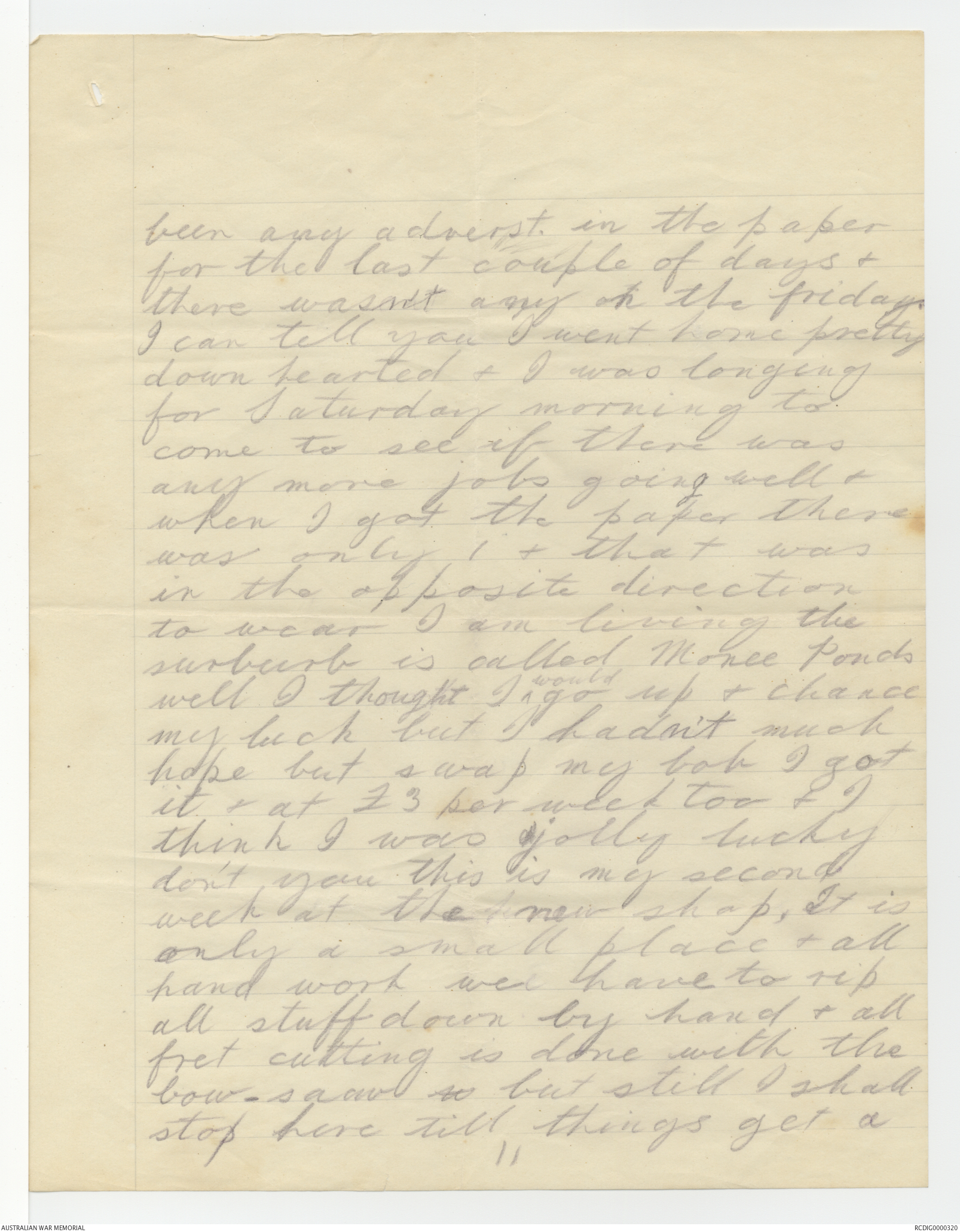 Letters from Robert Edmund Antill to his Parents, 1914-1915