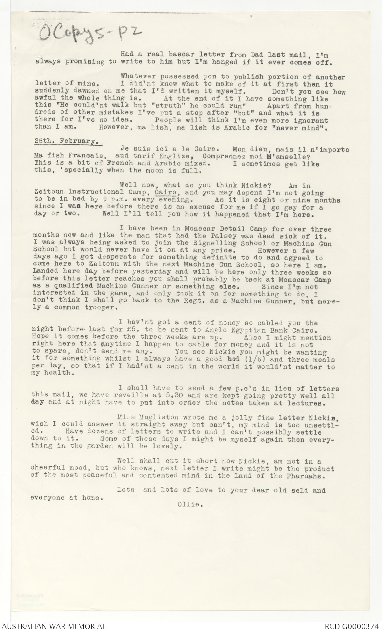 Letters From Oliver Joseph Burke Clarke   The Australian