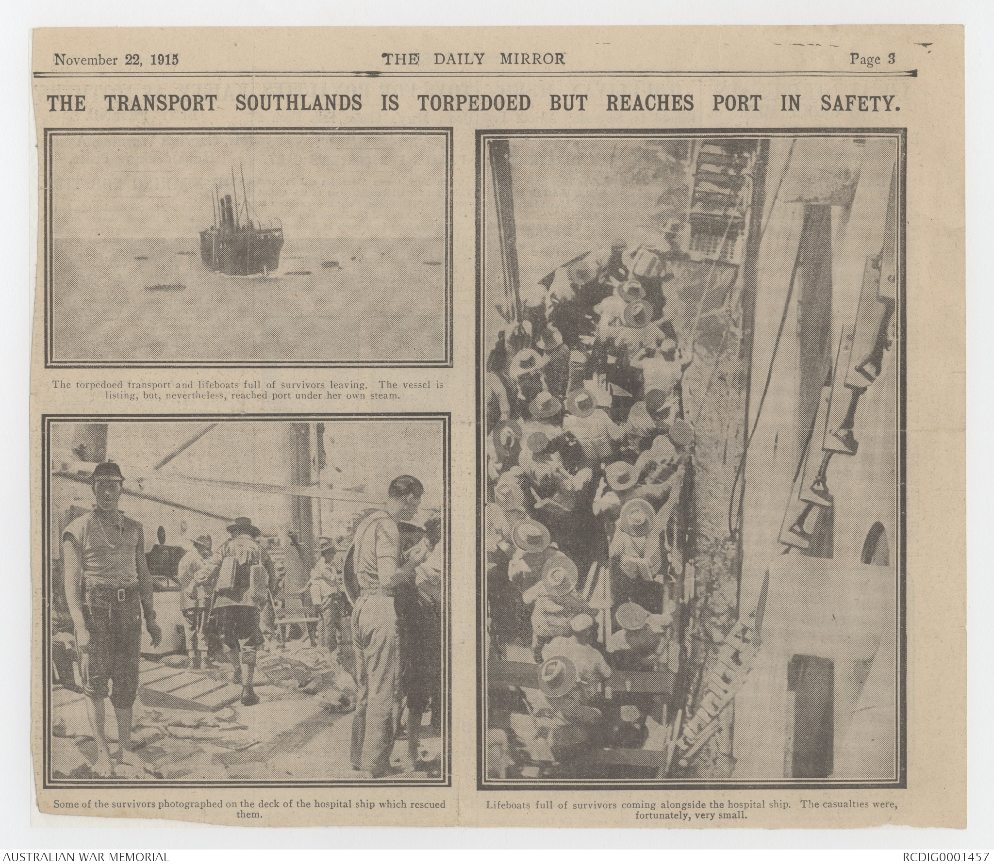 Newspaper cuttings relating to James Charles Martin, 1915-1916 | The ...