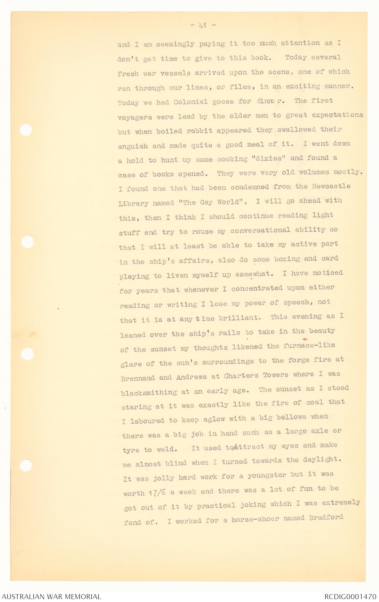 Transcript] Diaries of Thomas James Richards, Vol  1   The