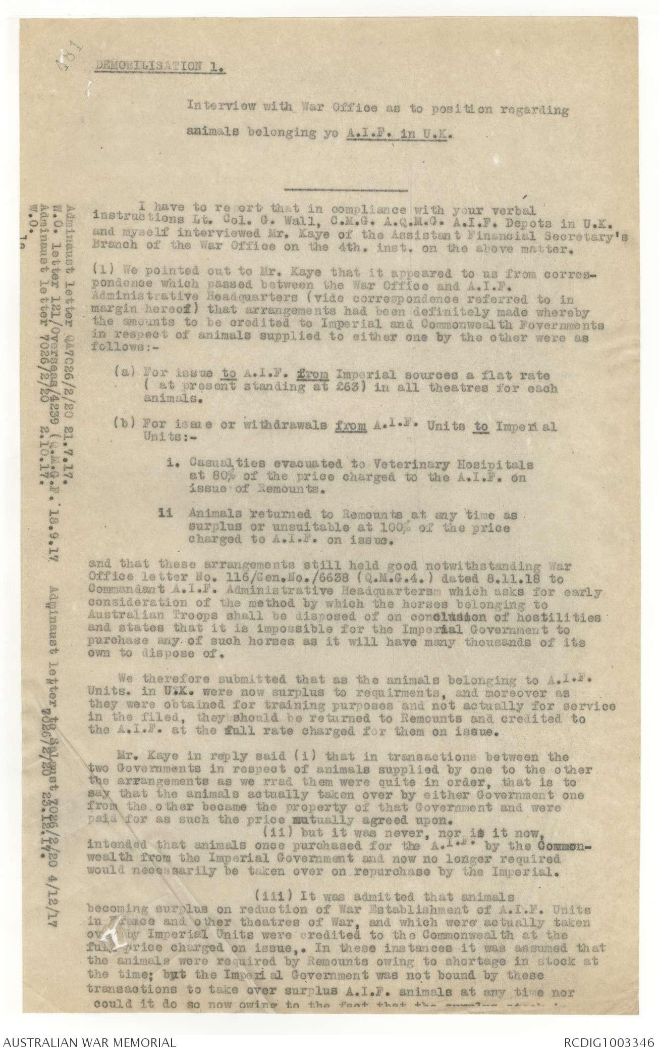 AWM4 30/1/4 PART 9 - January 1919 | The Australian War Memorial