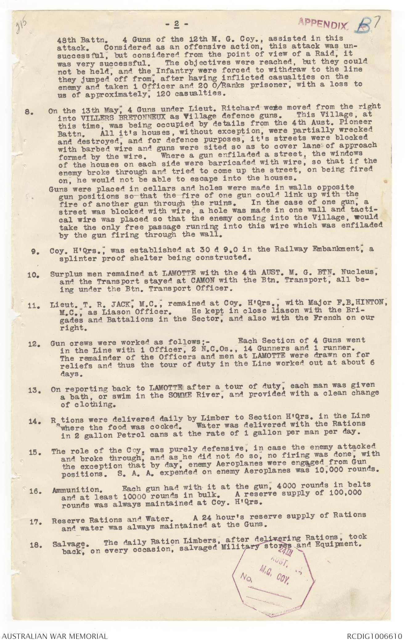 AWM4 24/24/9 - May 1918 | The Australian War Memorial