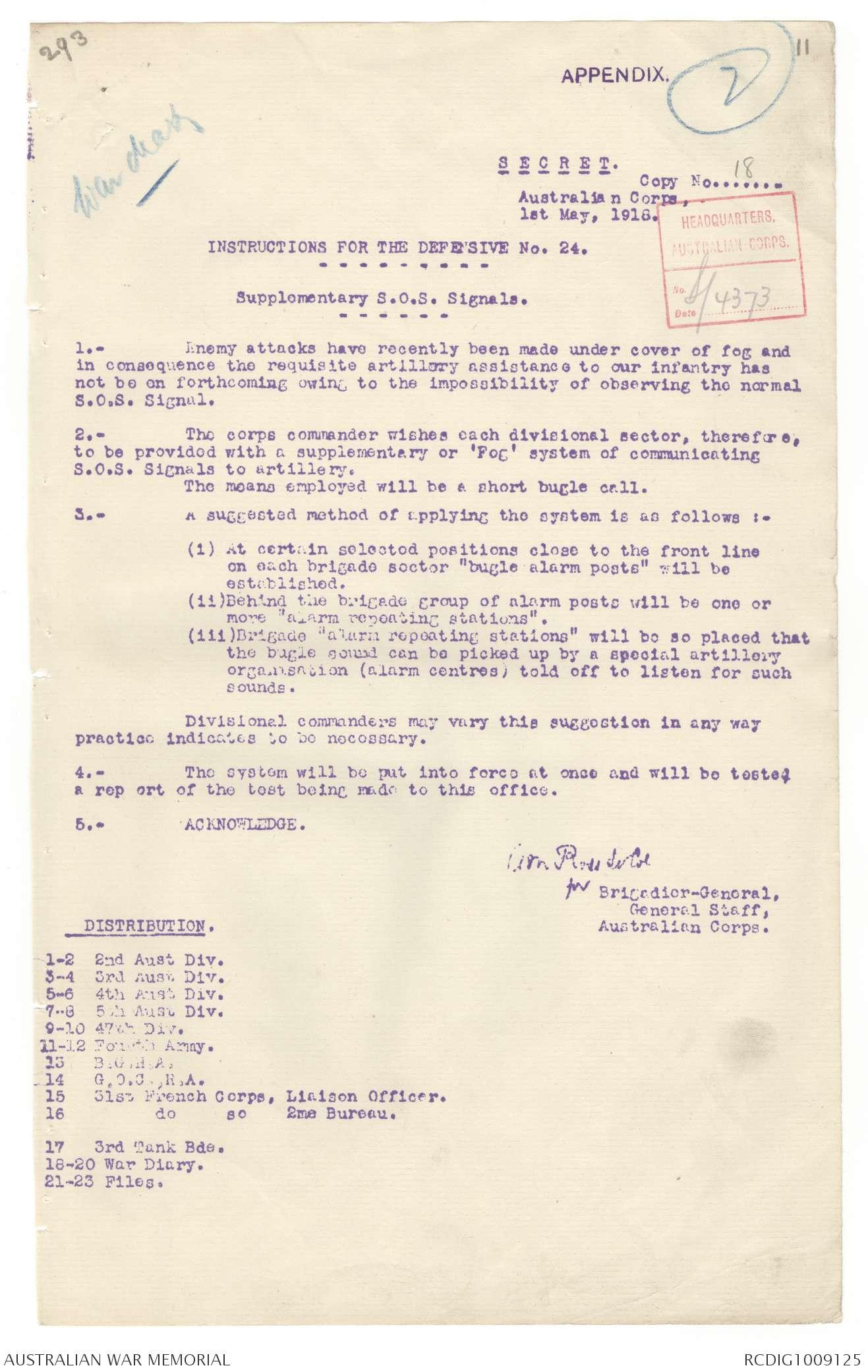 AWM4 1/35/5 PART 1 - May 1918 | The Australian War Memorial
