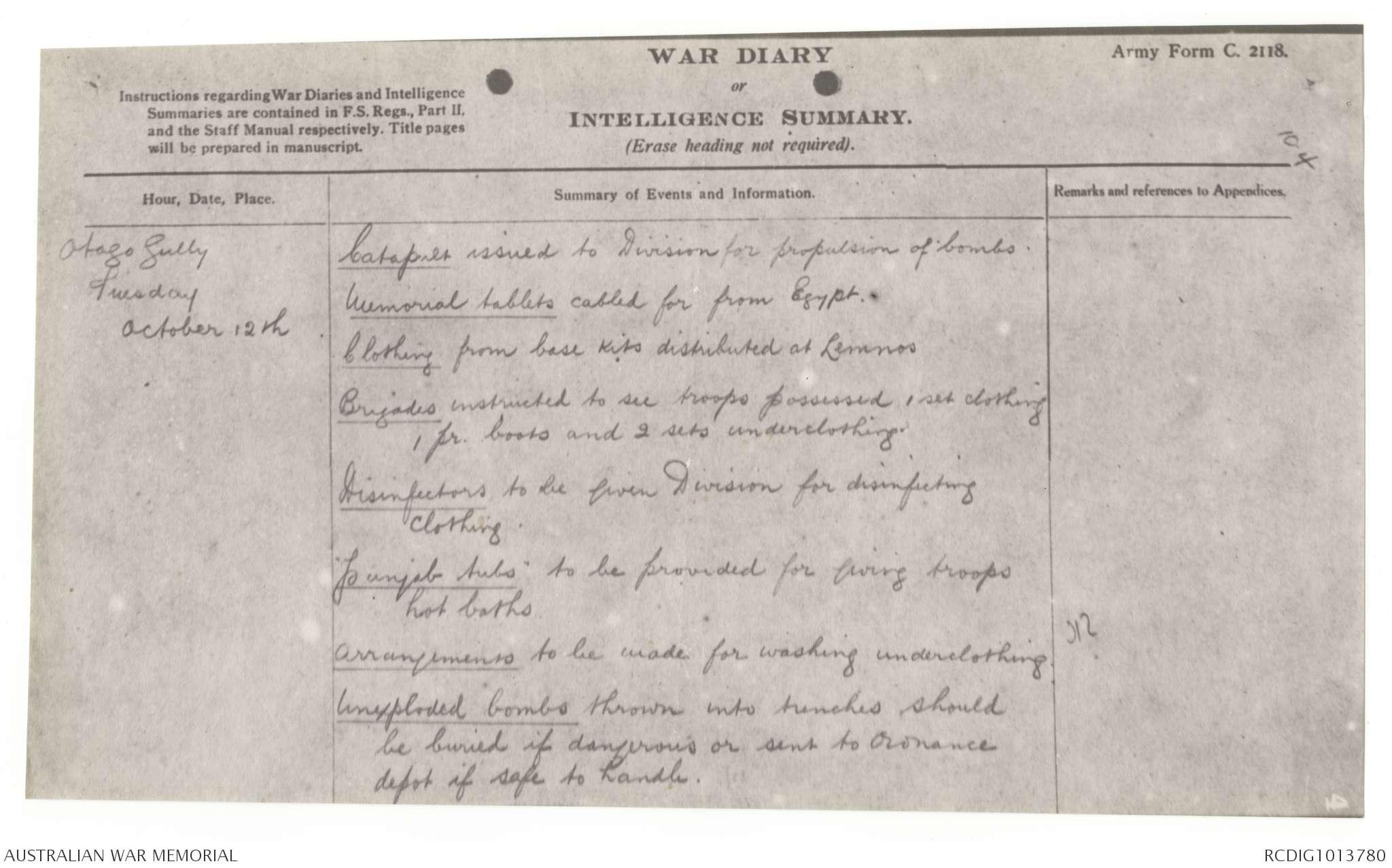 AWM4 1/55/7 - October 1915 | The Australian War Memorial