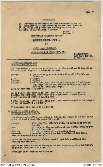 AWM52 8/3/2/37 - January - February 1944 | The Australian