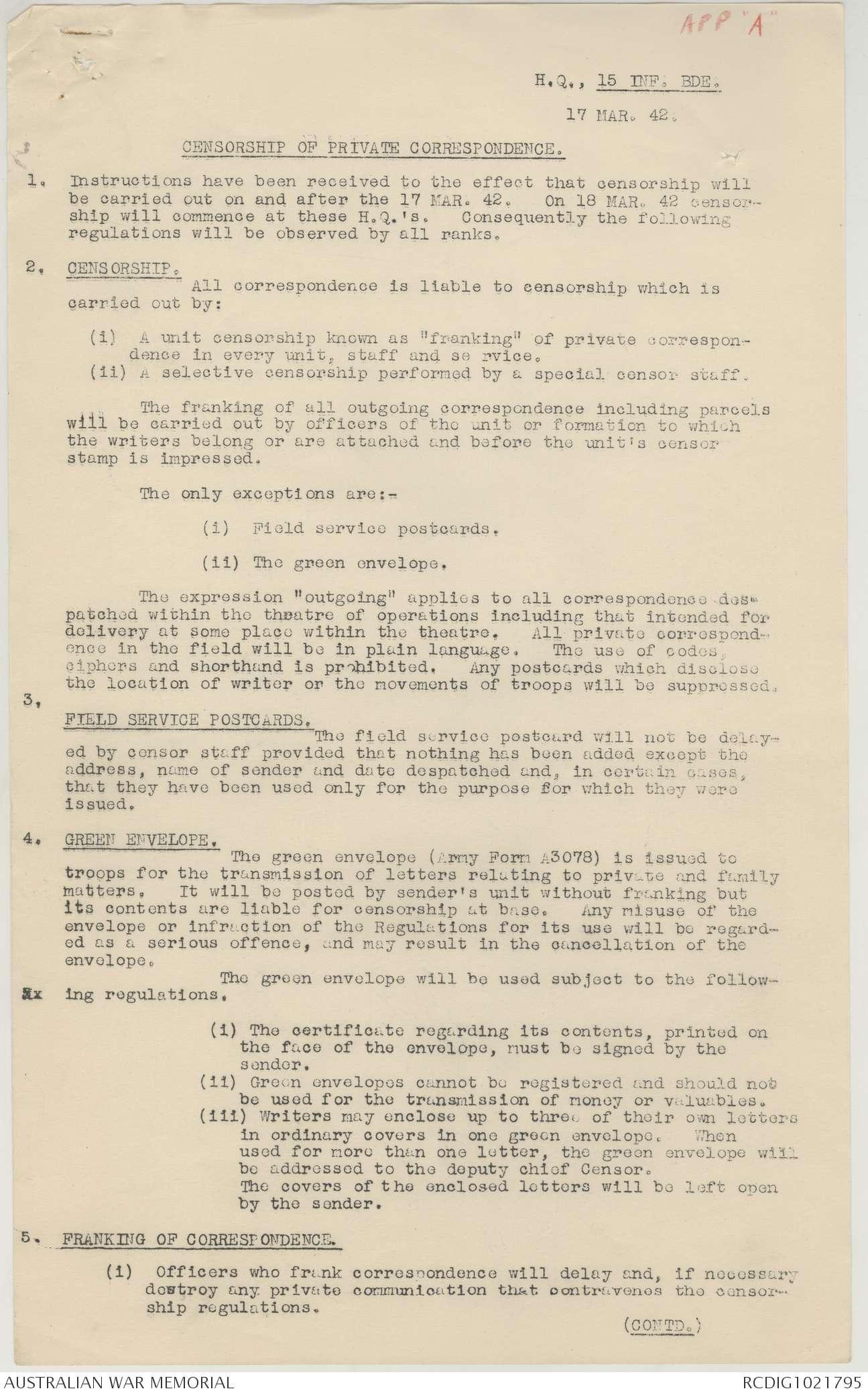 AWM52 8/2/15/3 - March - April 1942   The Australian War
