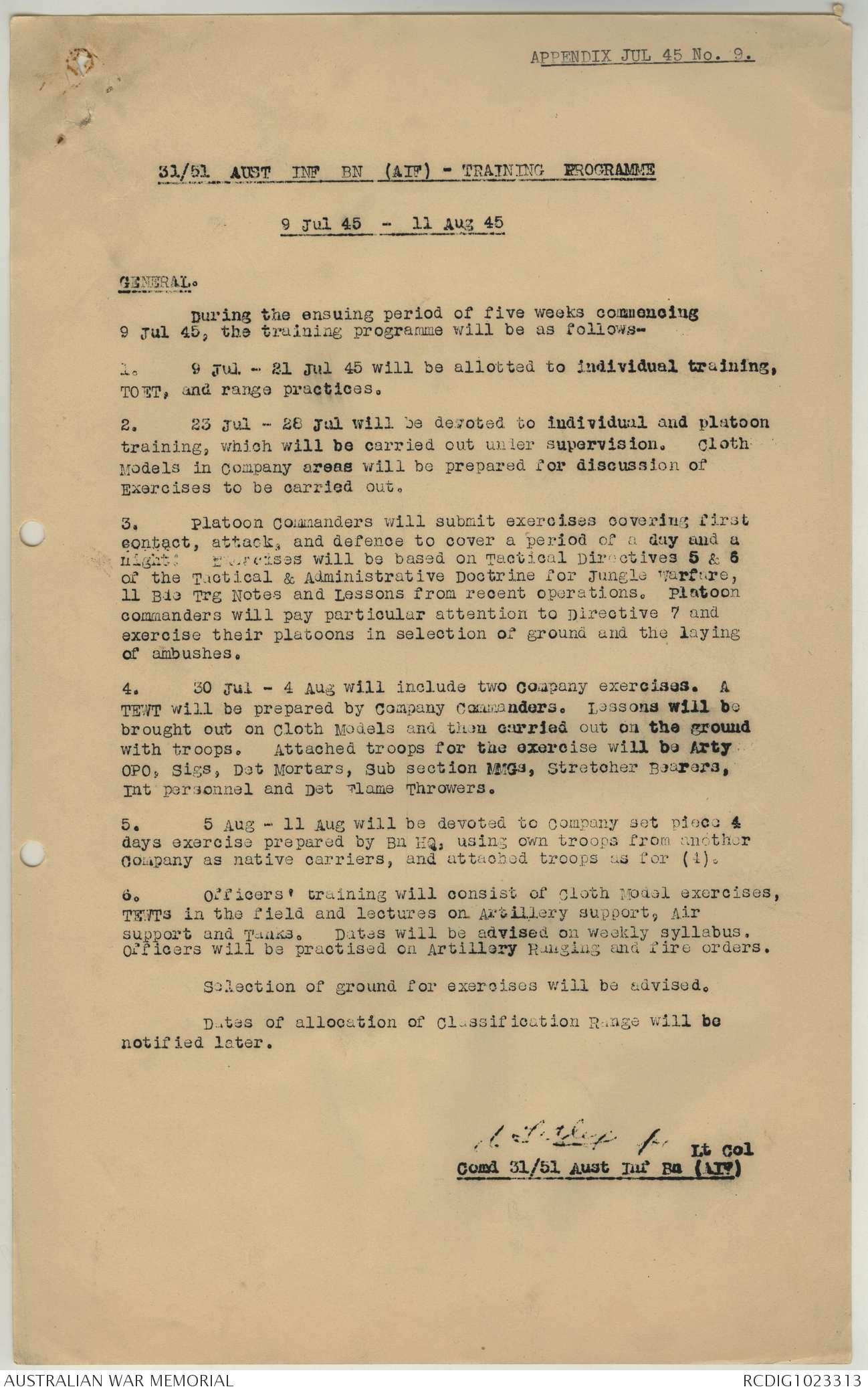 AWM52 8/3/70/39 - July 1945 | The Australian War Memorial