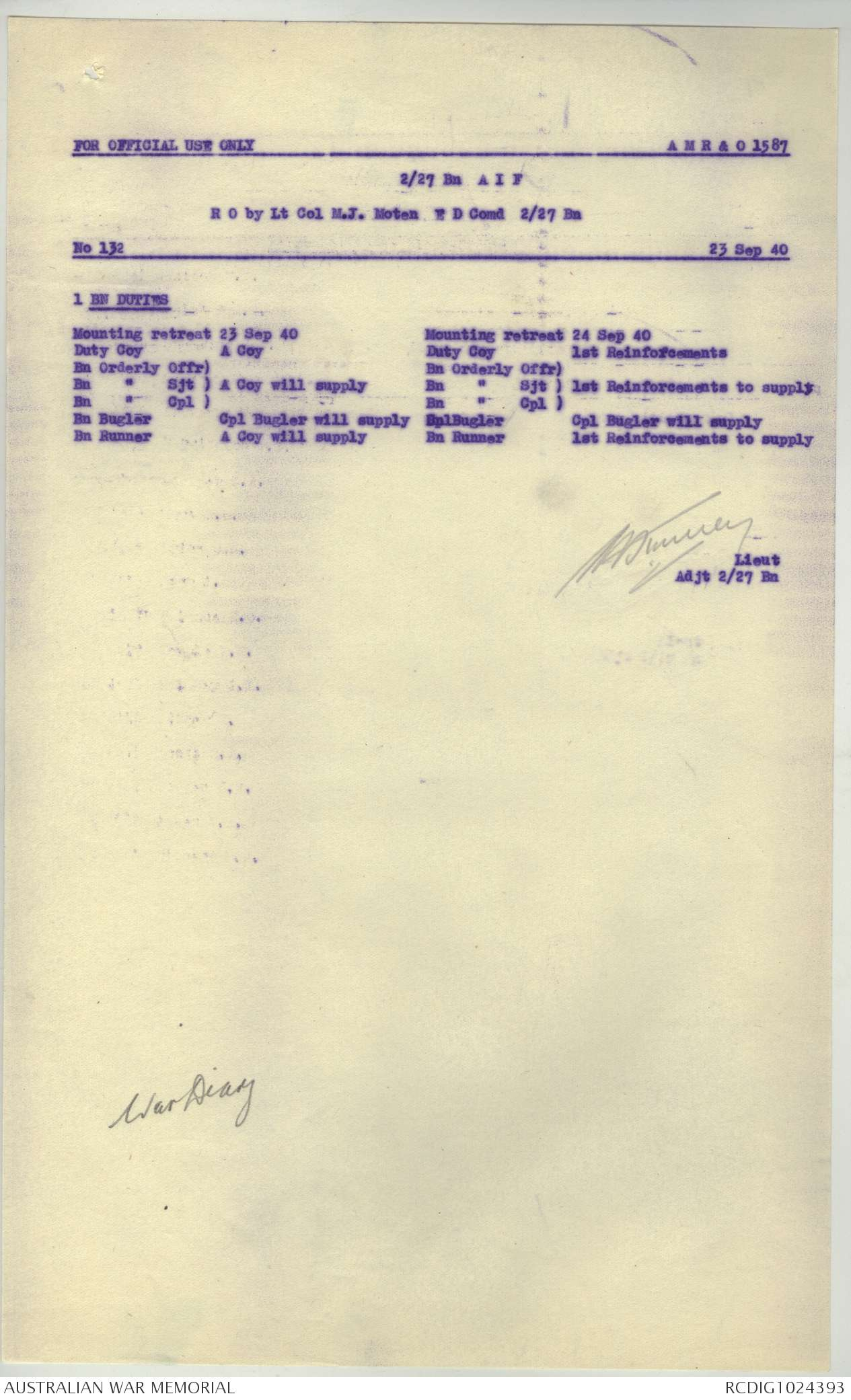 AWM52 8/3/27/9 - September 1940, Appendices, part 1 of 6