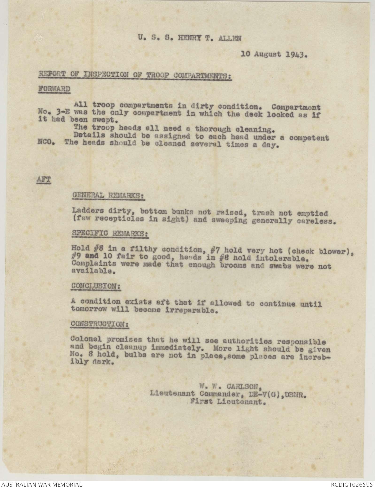 AWM52 8/5/2/30 - August 1943 | The Australian War Memorial