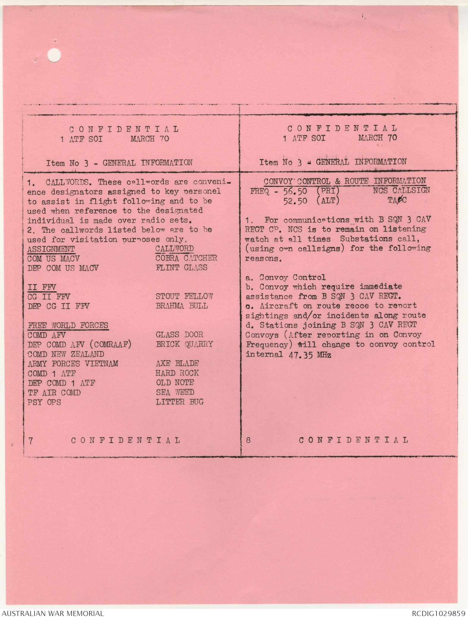 AWM95 6/2/35 - 1-28 February 1970, Narrative, Annexes | The